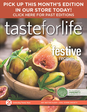 August 2015 Taste for Life cover and magazine archive